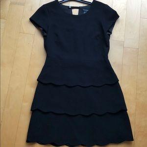 Clubmonaco black dress with ruffles